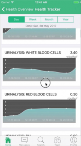 Online blood test results