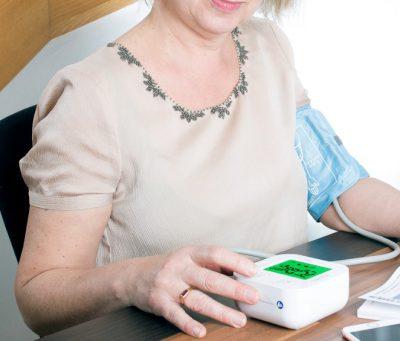 Home healthcare for seniors blood pressure monitor