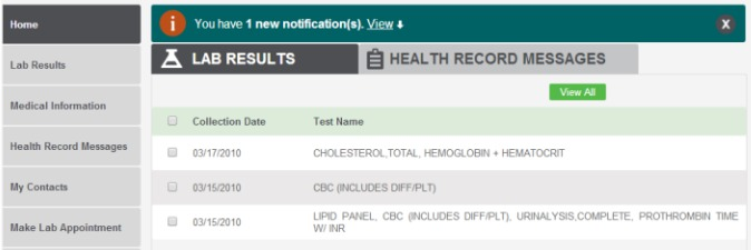 Online lab reports