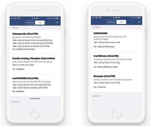 medicine list app